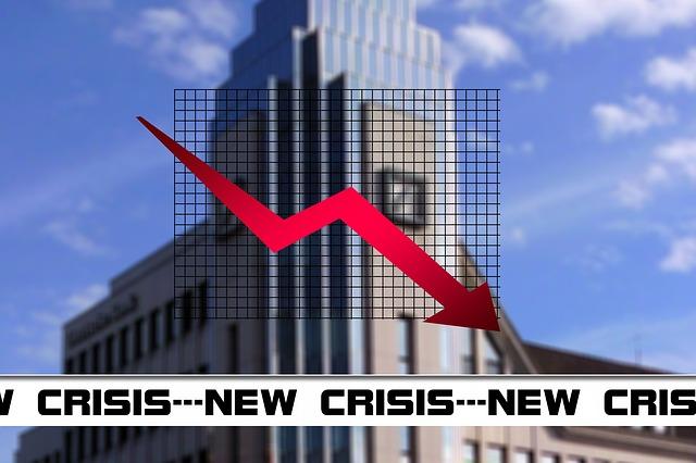 finanční krize, červená šipka
